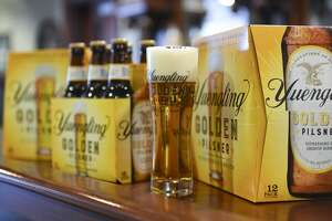 Yuengling introduced a new beer Monday, Golden Pilsner. Photo by Lauren A. Little 3/19/2018 (Photo By Lauren A. Little/MediaNews Group/Reading Eagle via Getty Images)