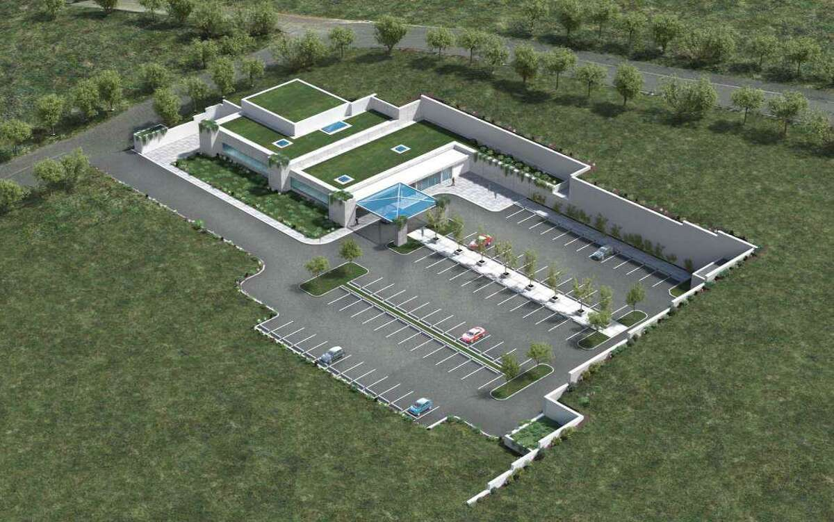 A rendering of the proposed Danbury Proton treatment center.