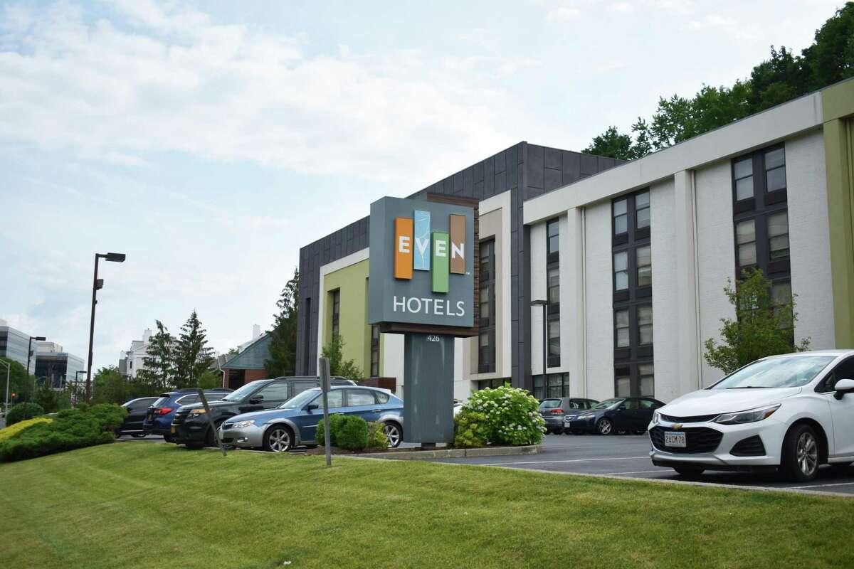 Even Hotels on Main Avenue in Norwalk, Conn., in June 2021.