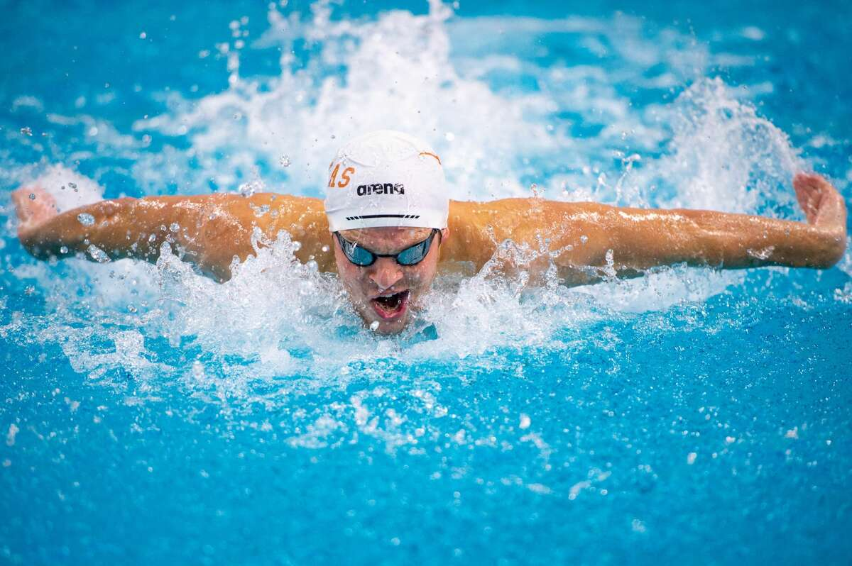 Midland High grad Braden Vines competes for the University of Texas swim team.