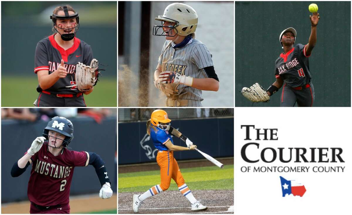 Savanna Conway (Oak Ridge), Maddie McKee (Lake Creek), Ariel Redmond (Oak Ridge), Hailey Toney (Magnolia West) and Morgan Yeager (Grand Oaks) are nominees for The Courier's Newcomer of the Year.