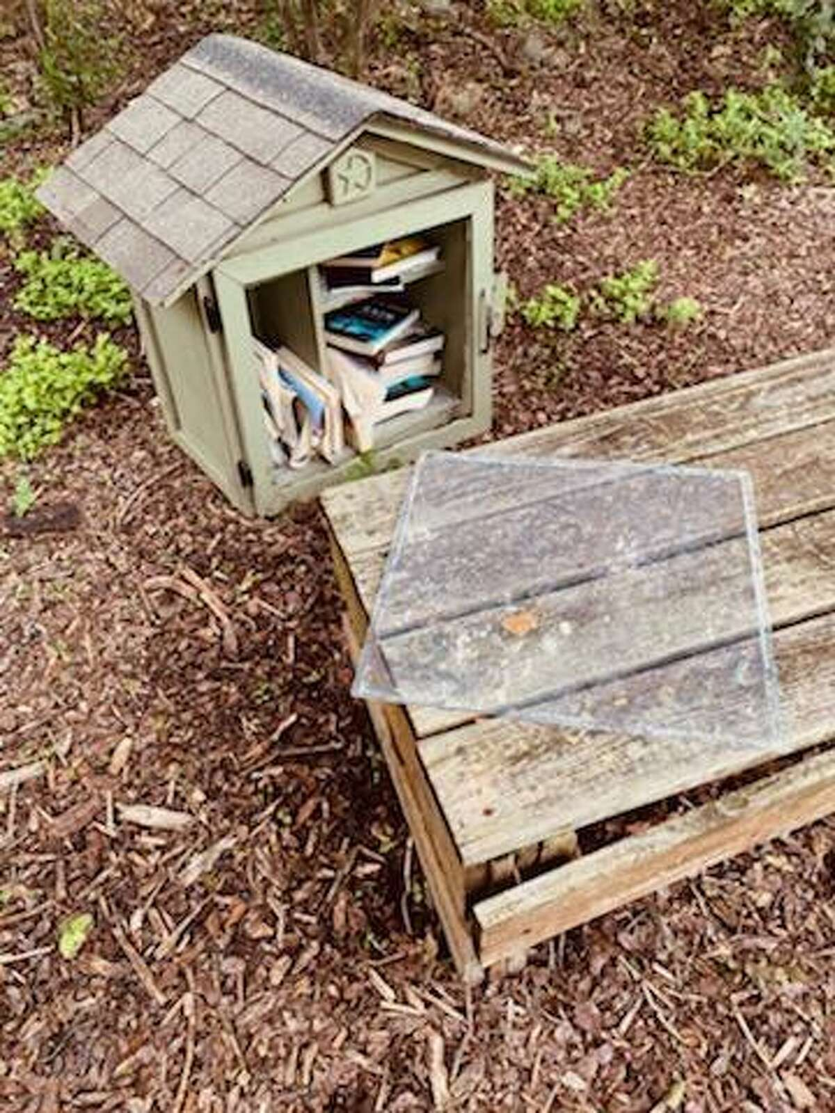 Unknown vandals attacked Alamo Heights Community Garden June 4, damaging picnic tables and the Little Free Library.