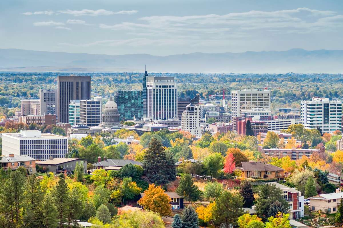 The skyline overlooking Boise, which is becoming a popular destination for Bay Area techies.