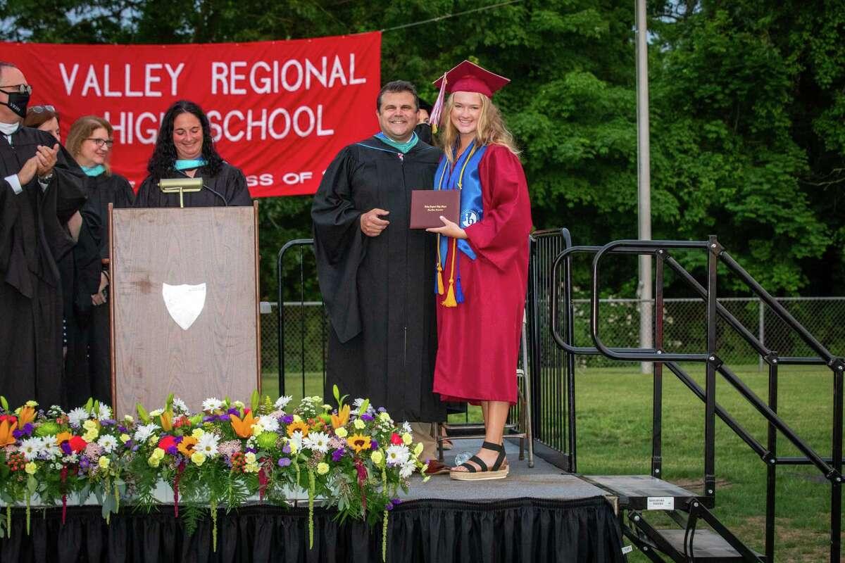 Valley Regional High School in Deep River celebrated 134 graduates on June 9, 2021.