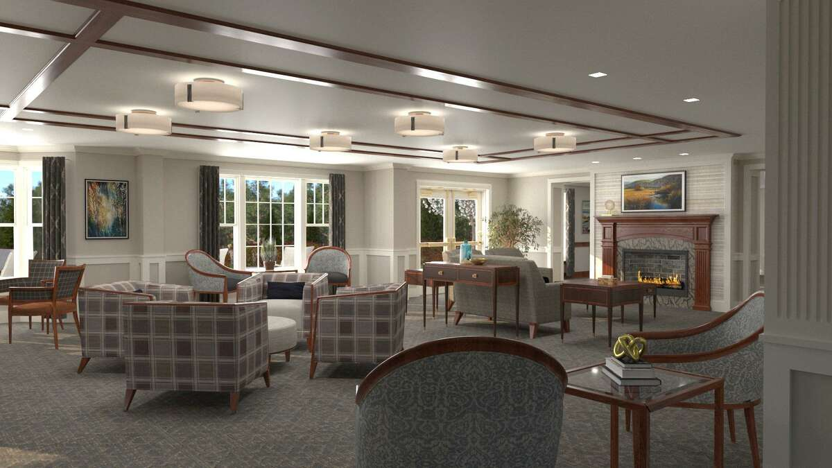 Renderings of a new assisted living facility being constructed at Meadow Ridge in Redding, Connecticut during the summer of 2021.