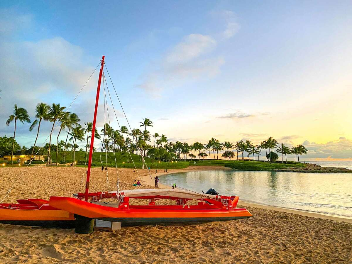 Aulani shares a semi-private beach with two other hotels, which is open to pedestrians