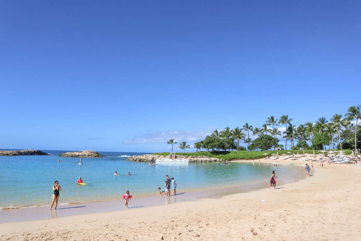 Aulani's beach.