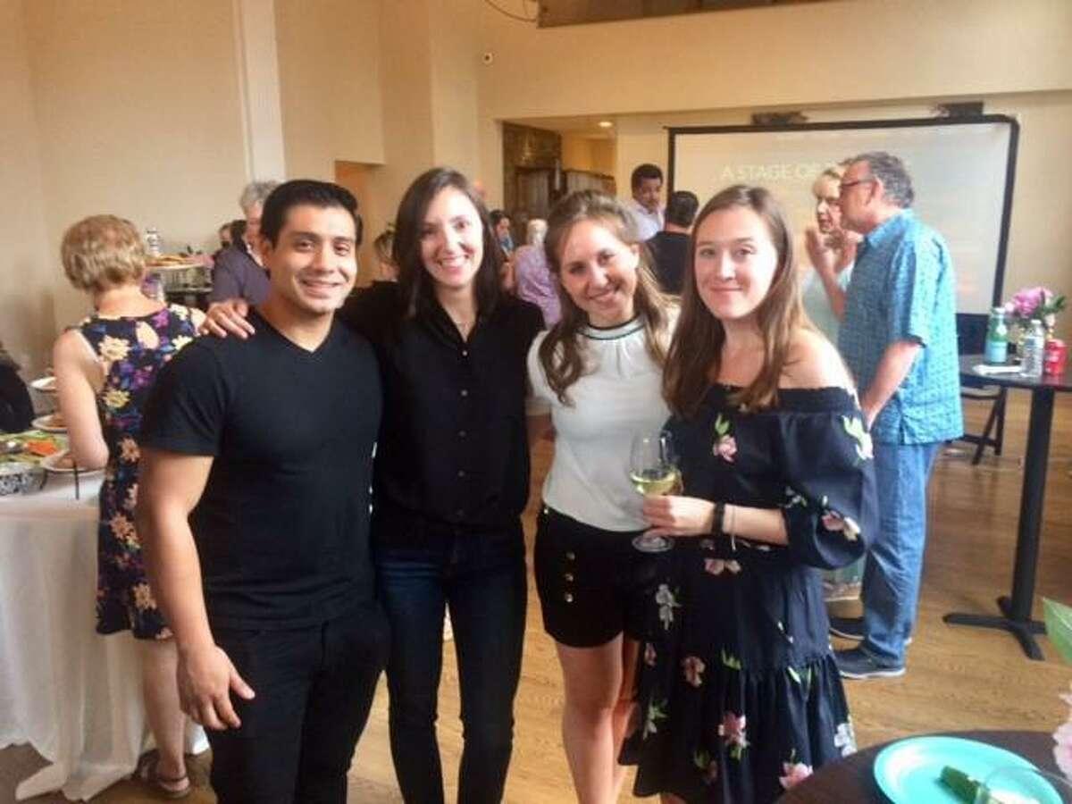 "Actor Marlon Quijije (""Joey""), Production Designer Kat Leuci, Actor Emily Kratter (""Laura"") Producer/Writer/Director Sarah T. Schwab"