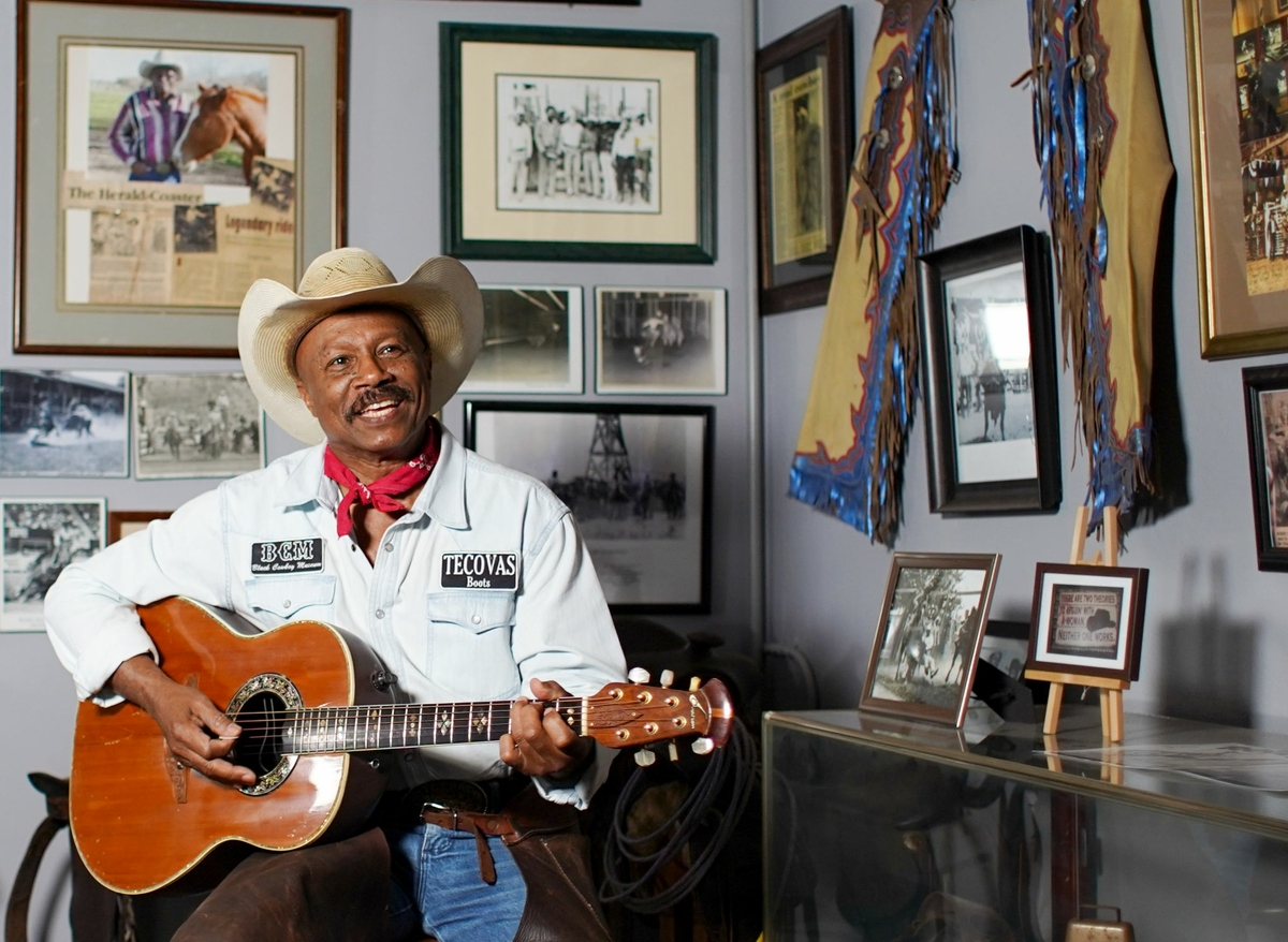 Larry Callies is the founder of the Black Cowboy Museum in Rosenberg.