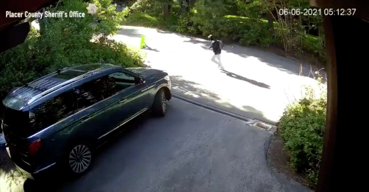 A screenshot of the surveillance footage released by Placer County Sheriff's Office Thursday.