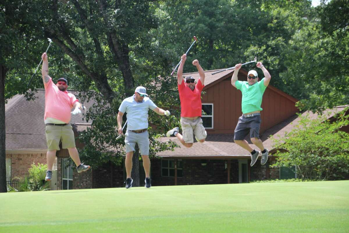 The AG CM, Inc. team celebrated a great day at the Conroe Noon Lions Club - 35th annual Golf Tournament held last week at Panorama Golf Course. Pictured left to right are James Taylor, Gary Hall, Jason Miller, Seth Thompson.