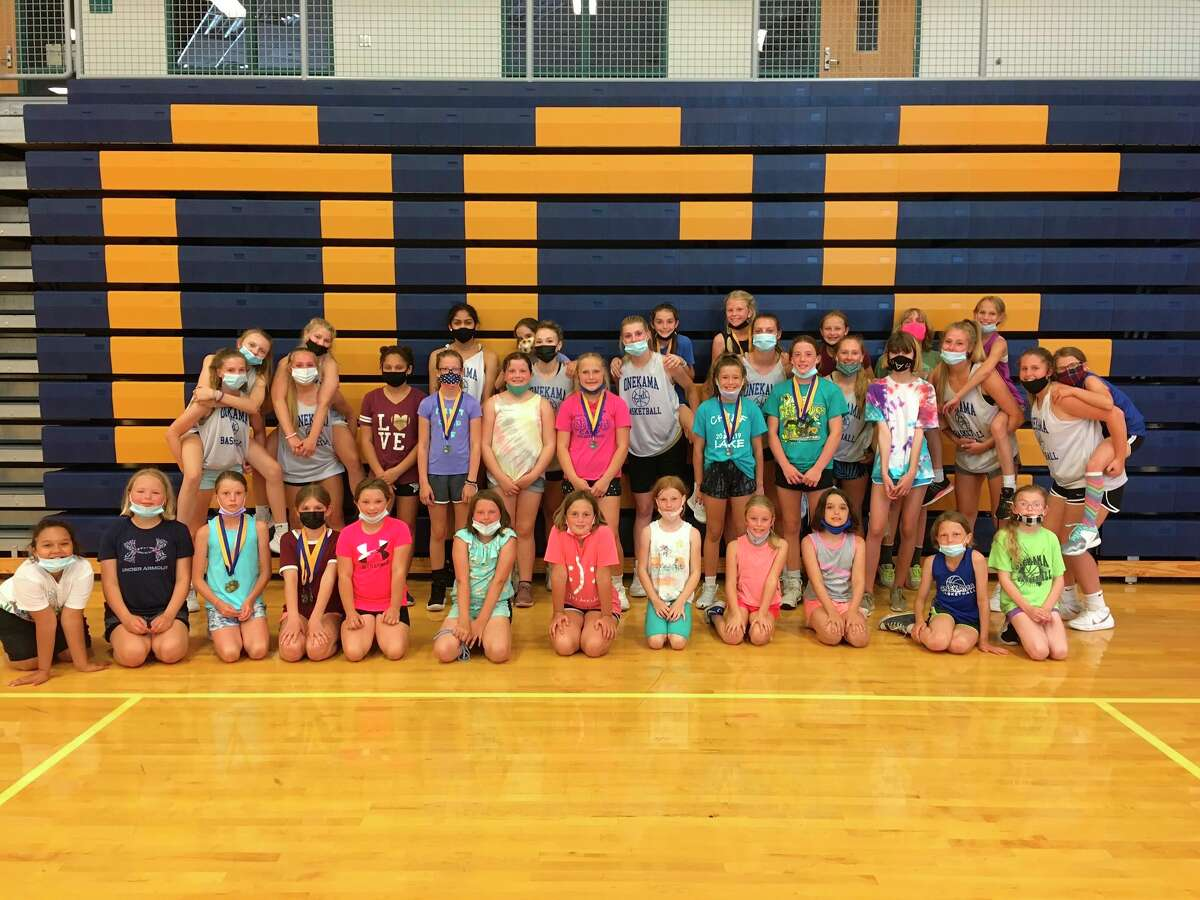 Onekama's basketball camp proved a big hit among its participants. (Courtesy photo)