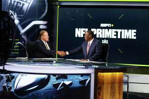 """ESPN's Chris Berman, who will be honored by Walter Camp as """"Distinguished American."""""""
