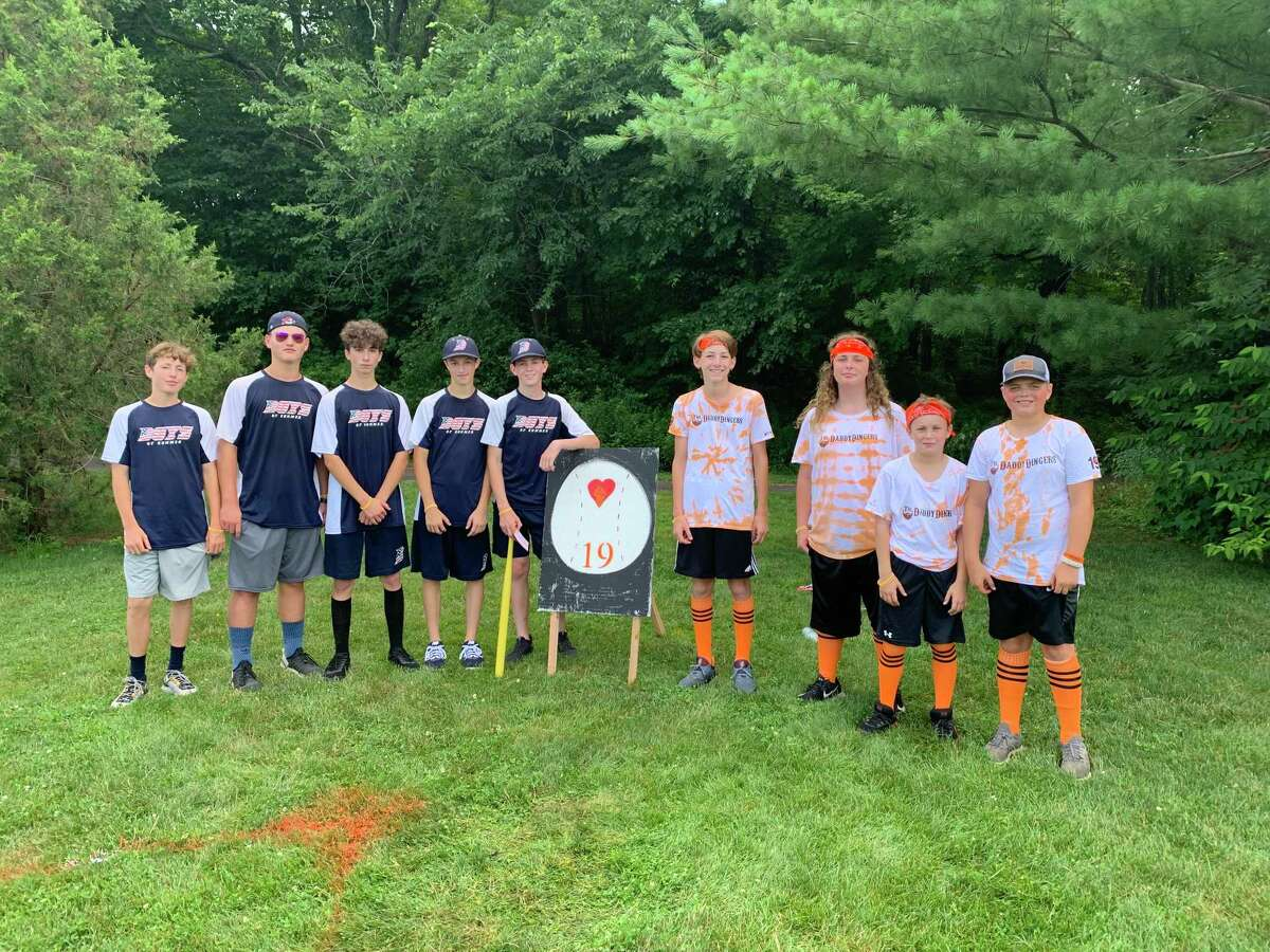 The Otto Forever Wiffle Ball Tournament is returning this year, 2021, starting at 8 a.m. on Saturday, July 10, at Settlers Park in Southbury. Pictured left to right are: Nick Rose, Braden Purser-Blackman, Louie Coscia, Kenny Supersano, William Passarelli, Lucas Stango, Jack Canalori, Colin Bensley, and Colby Mahoney.