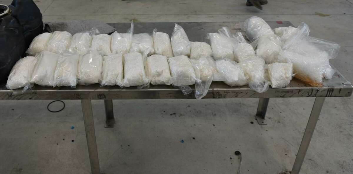 U.S. Customs and Border Protection said these 55.46 pounds of methamphetamine were concealed within a vehicle. The narcotics had an estimated street value of $1,109,354.