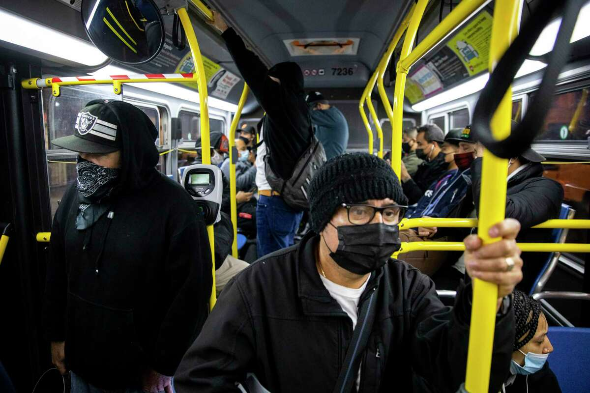 Restaurant worker Sebastian Sanchez says he faces long waits for the 14-Mission bus and sometimes walks 1½ miles home.