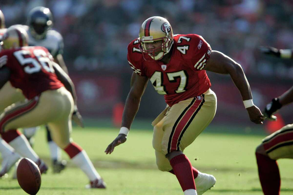 The San Francisco 49ers Kevin Ware (47) chases after a short punt in the second quarter during their loss to the Seattle Seahawks 27-42 Nov. 7, 2004 at Monster Park. Ware is in custody for after allegedly violating his bond on a felony charge.
