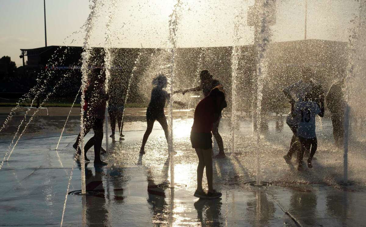 The splashpad was the perfect place to cool off between games of the double header of Team USA softball vs Team Alliance 06/11/2021 at Momentum Bank Ballpark. Tim Fischer/Reporter-Telegram