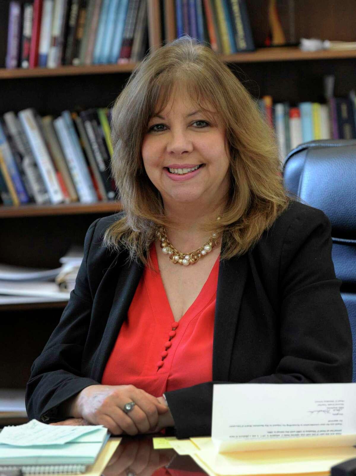 Lorrie Rodrigue, Newtown schools superintendent. Photo Wed., Feb. 28, 2018.