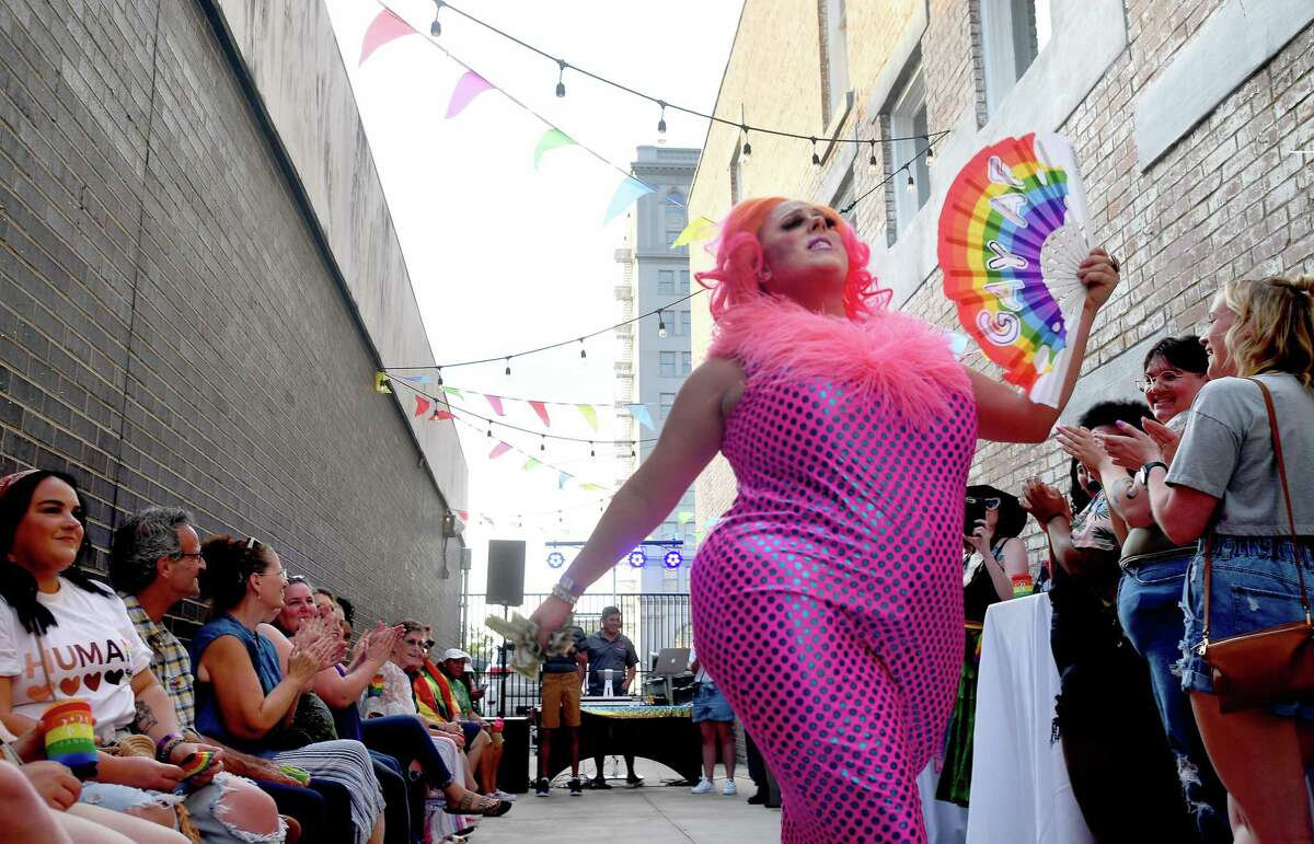 Sparkle Motion performs during the Pride Party at 434 Fanin to kick off this weekend's Pride Fest celebrations in Beaumont. Photo made Thursday, June 10, 2021 Kim Brent/The Enterprise