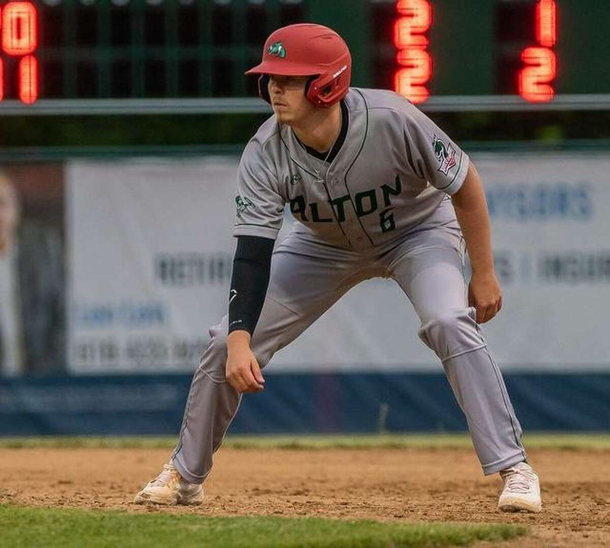 Alton High grad and Lewis and Clark Community College's Adam Stilts provided another quality pitching start for the Alton River Dragons, who won their second straight with an 11-6 win over the Gems in Prospect League play Friday night at Hopkins Field. He is shown running the bases in a recent game.