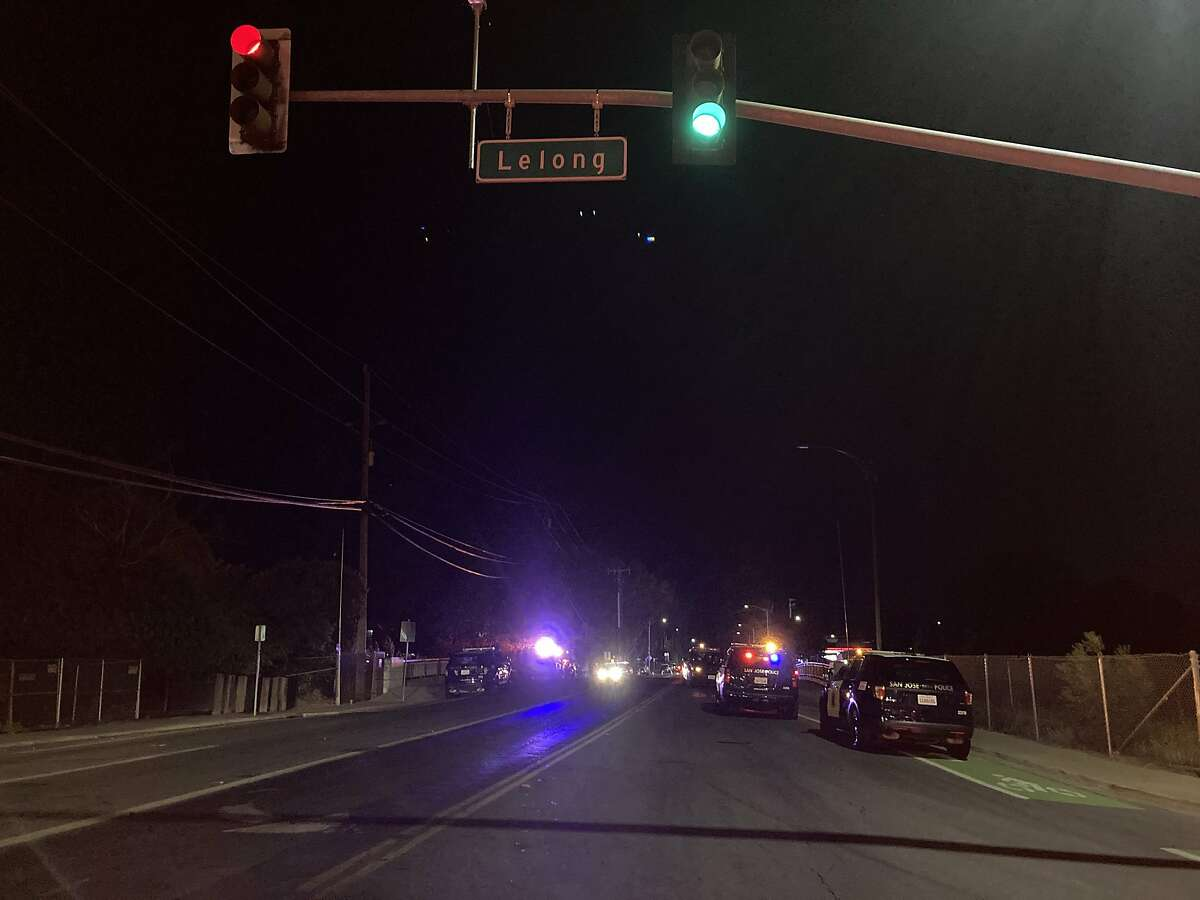 San Jose Police Department officials blocked the roadway at Lelong and Alma in San Jose on Friday, June 11, 2021, after a suspected drunk driver crashed into the outdoor dining area of the Agave Sports Bar, killing one person and injuring three.