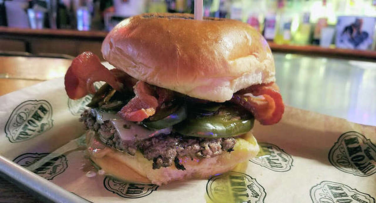 The Hot N Sticky Burger at the Uptown Tavern in Carlinville is one of 20 sandwiches being featured June 14-18 during Epic Burger Week.