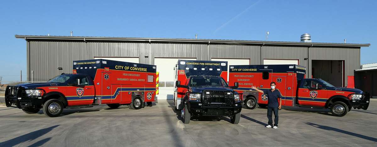 Converse Mayor Al Suarez shows off three new Infectious Disease Response Units.