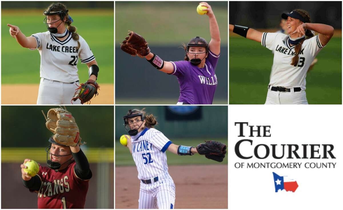 Ava Brown (Lake Creek), Marissa Fletcher (Willis), Emiley Kennedy (Lake Creek), Toni Tamborello (Magnolia West) and Savannah Youngblood (New Caney) are nominees for The Courier's Pitcher of the Year.