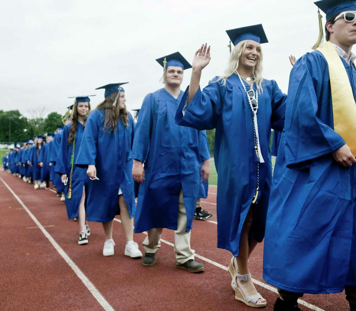 The procession of the Brookfield High School graduation ceremony. Saturday, June 12, 2021