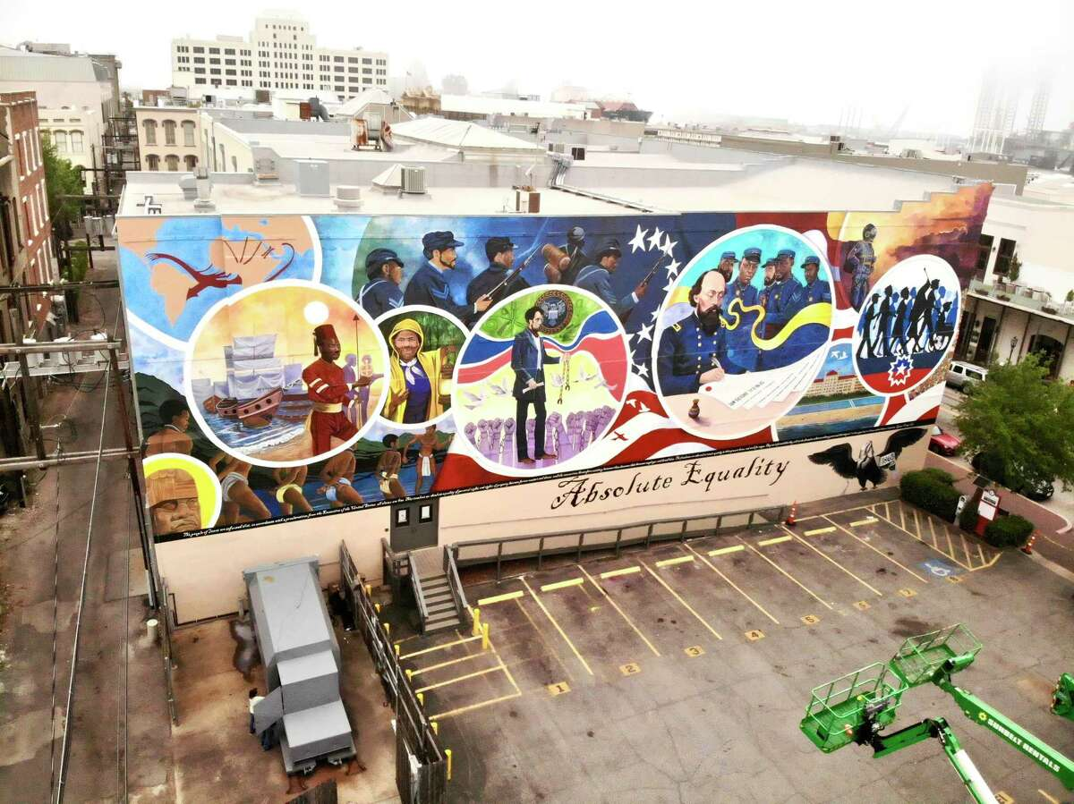 """The """"Absolute Equality"""" mural in Galveston by artist Reginald Adams"""