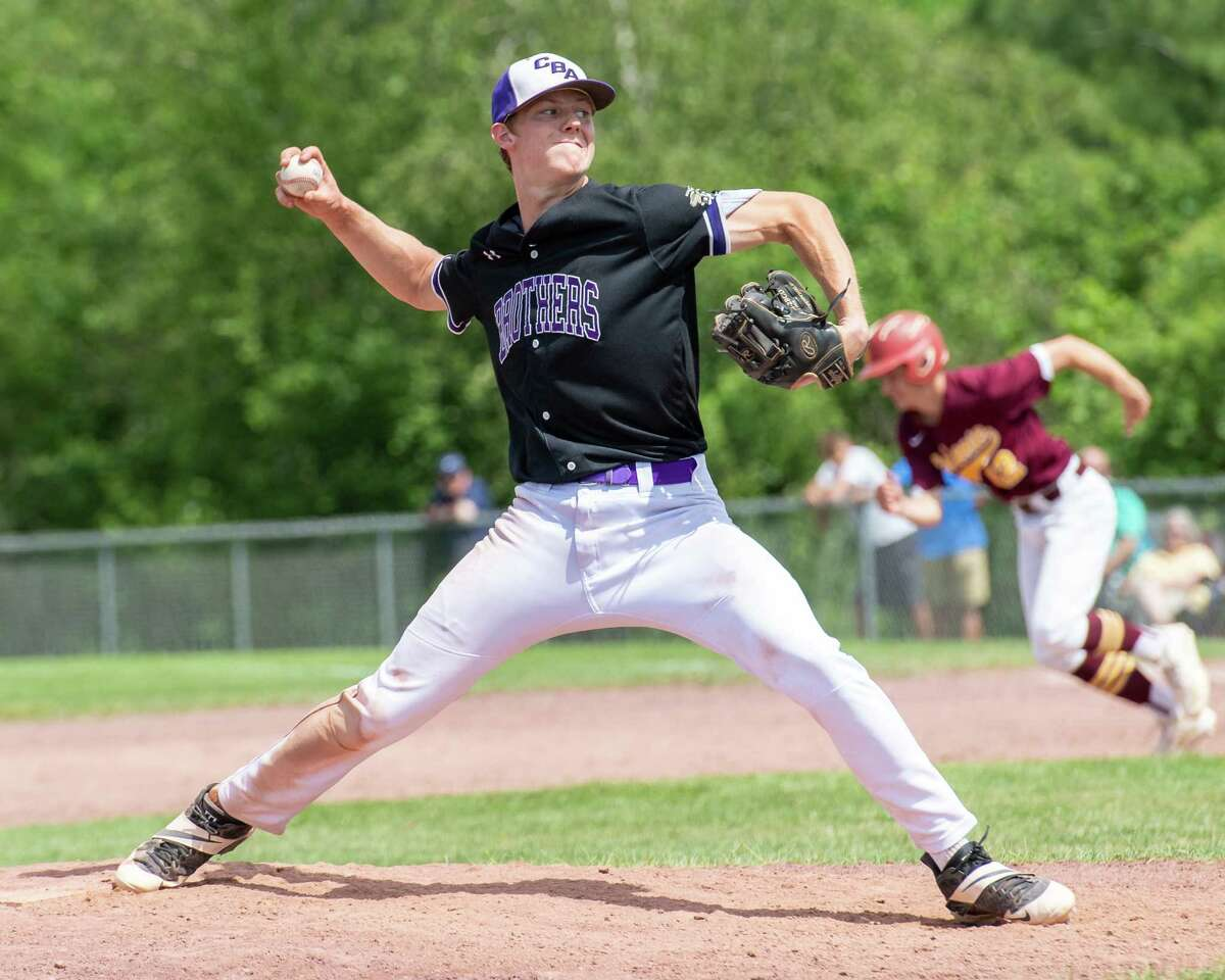 CBA standout Ryan Bilka comes in in relief against Colonie during the Class AA semifinals at CBA. Bilka has 11 strikeouts in 5 2/3 innings this season.