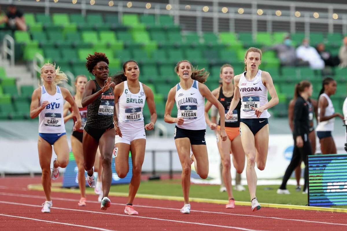 EUGENE, OR - JUNE 10: Michaela Meyer of the Virginias Cavaliers competes in the 800 meters during the Division I Men's and Women's Outdoor Track & Field Championships held at Hayward Field on June 10, 2021 in Eugene, Oregon. (Photo by Justin Tafoya/NCAA Photos via Getty Images)