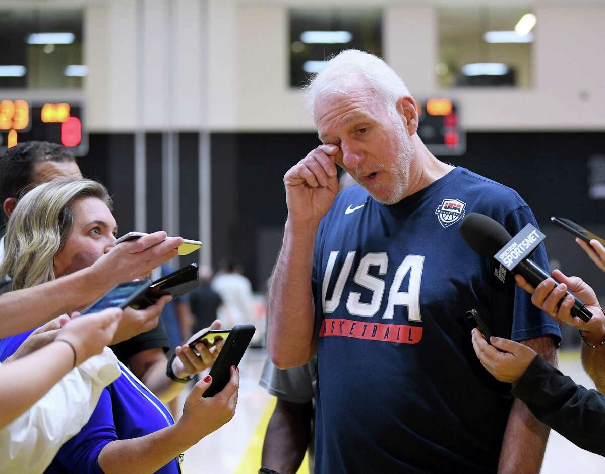 Persuading the NBA's top stars to play in next month's Olympics could be a tough sell for Team USA coach Gregg Popovich.