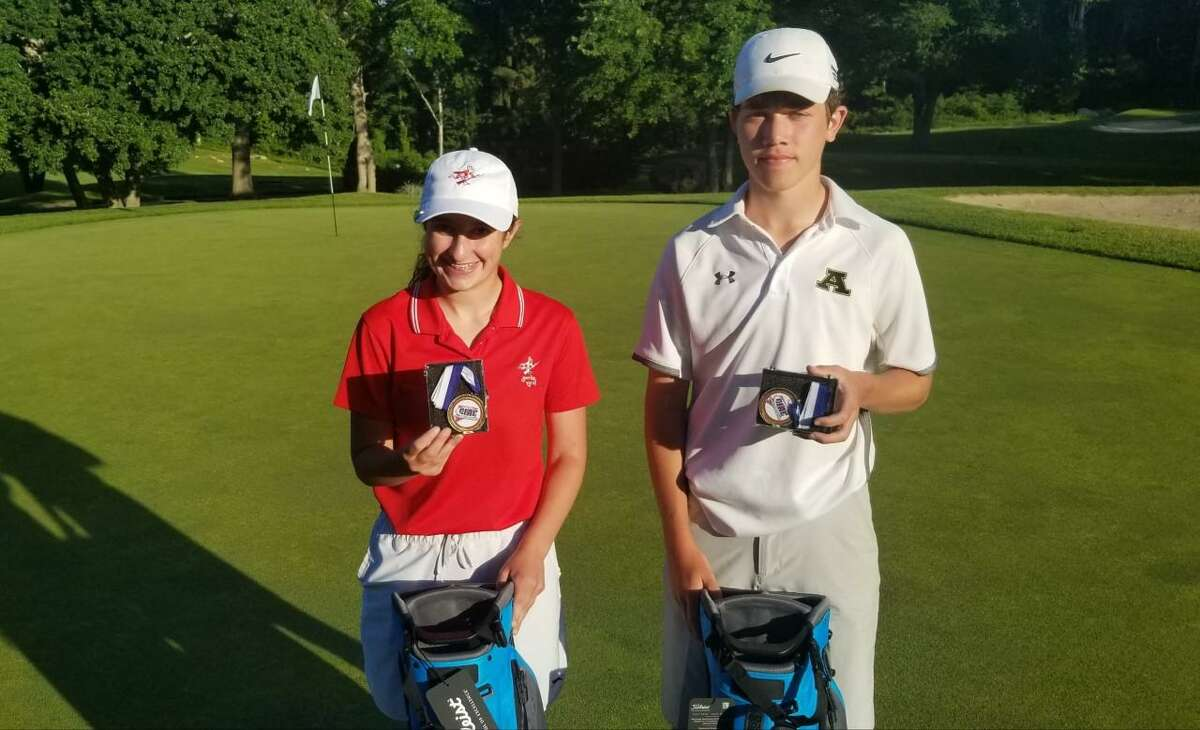Berlin's Libby Dunn, left, and Amity's Brett Chodos won State Open titles on Saturday.