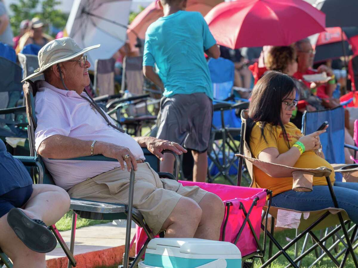 Midlanders and others from the Permian basin come out to enjoy Tejano music and festivities at Centennial Plaza during Mex-Tex Fiesta 06/12/2021 in downtown Midland. Tim Fischer/Reporter-Telegram
