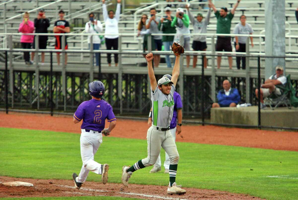 Norwalk celebrates its win over Westhill in the Class LL state championship game Saturday.