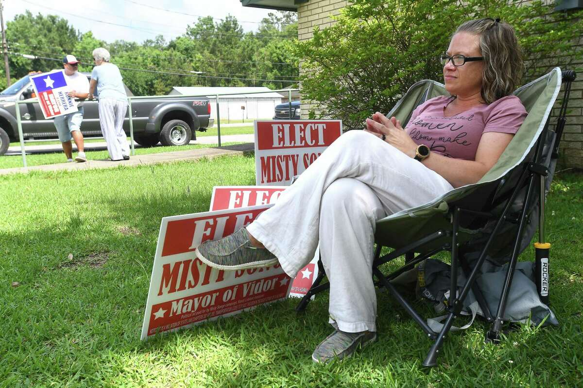 Misty Songe and Ronnie Herrera are vying for the votes to become Vidor's next mayor following Saturday's run-off election. Photo made Tuesday, June 8, 2021 Kim Brent/The Enterprise