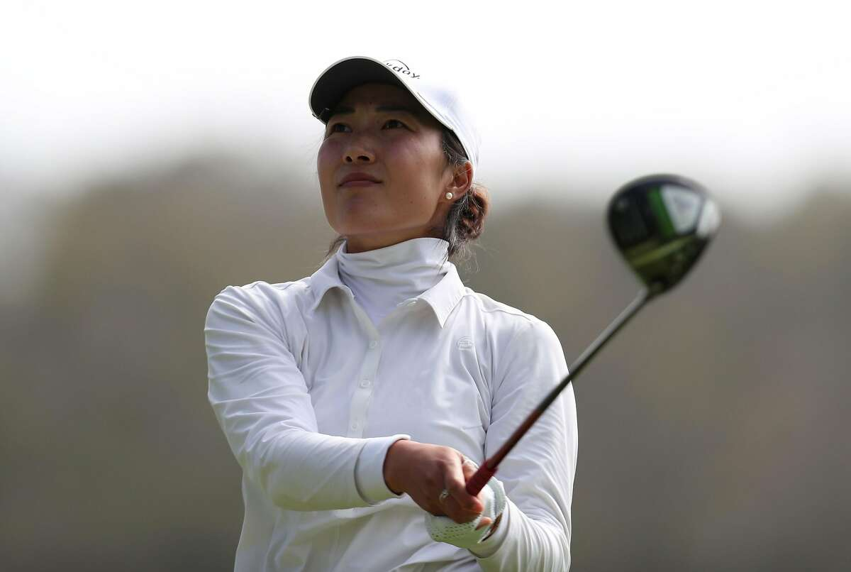 Lauren Kim, who went to Los Altos High and Stanford, is two shots behind leader Min Lee at the LPGA event in Daly City.