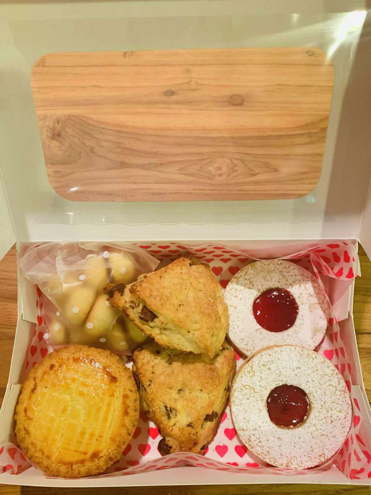 June's pastry box.
