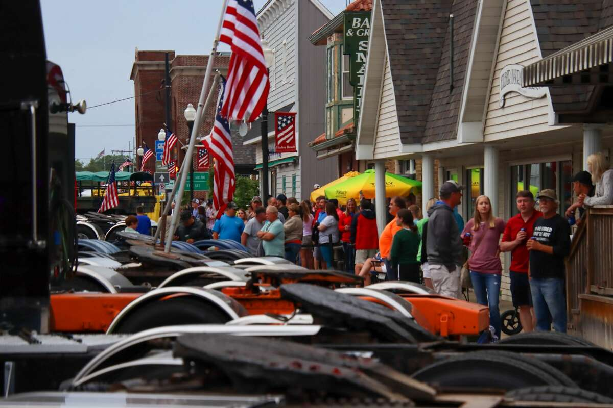 Harbor Beach bursts to life as crowds of people and semi trucks filter in for the annual truck show June 12.