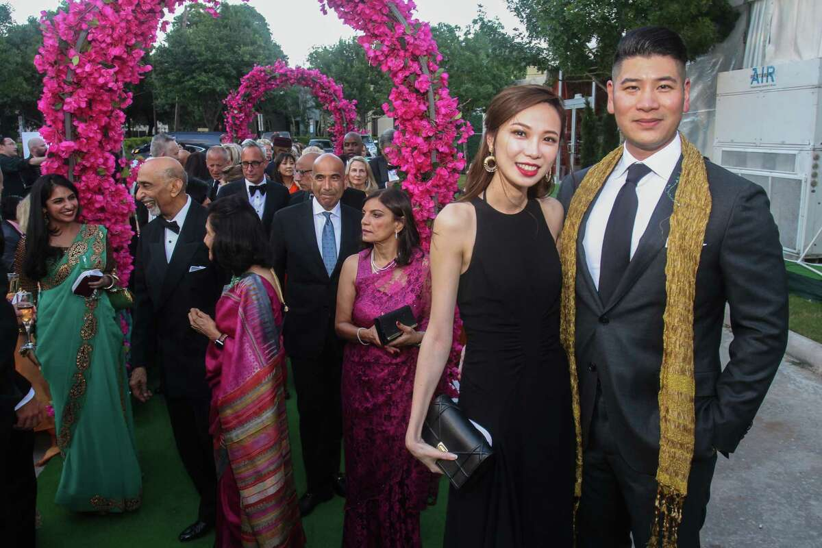 Livy Yang and Victor Lee at the Asia Society Tiger Ball in Houston on June 11, 2021.