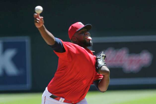 Minnesota Twins starting pitcher Michael Pineda throws to the Houston Astros in the first inning of a baseball game, Sunday, June 13, 2021, in Minneapolis. (AP Photo/Andy Clayton-King) Photo: Andy Clayton-King, Associated Press / Copyright 2021 The Associated Press All Rights Reserved