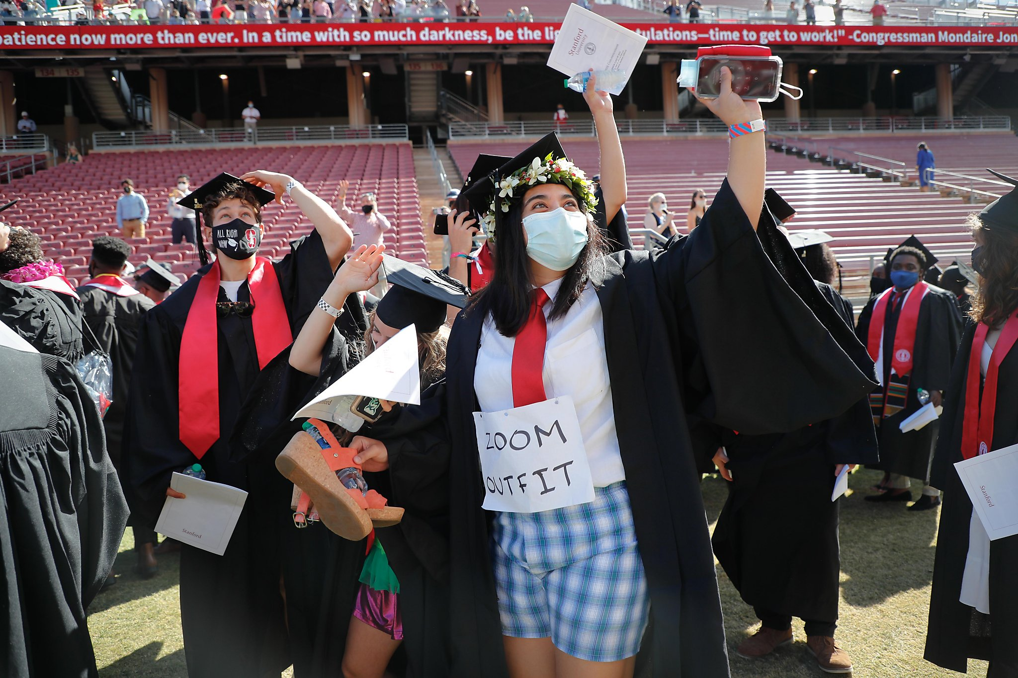 Stanford holds Bay Area's first full in-person college commencement since pandemic began