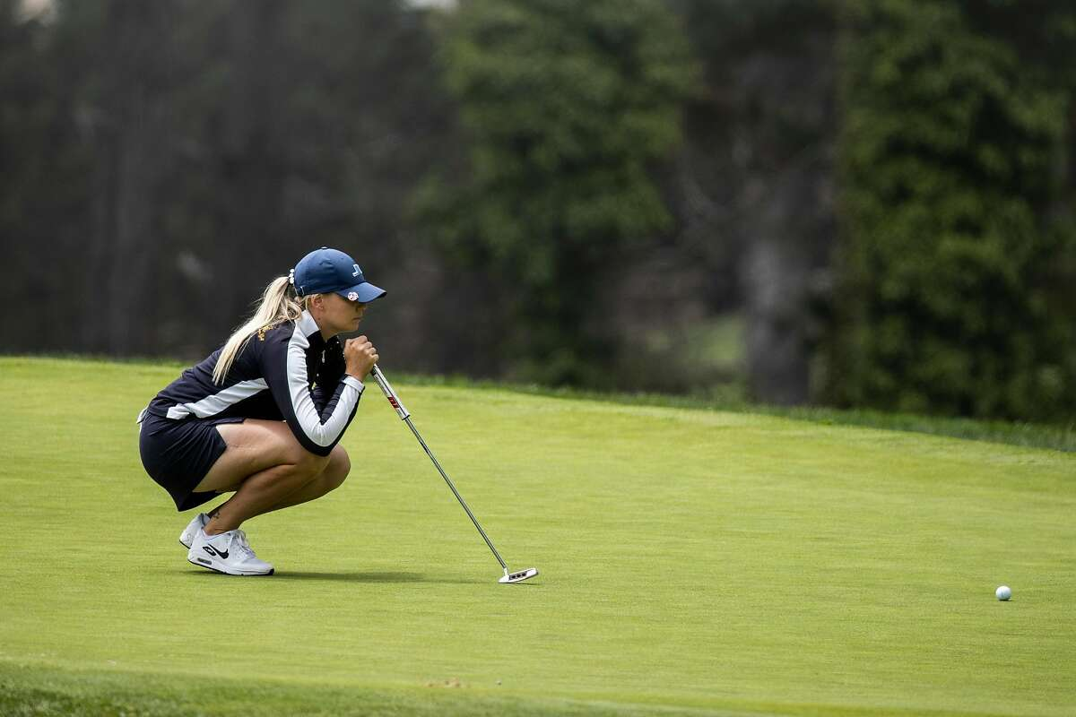 Matilda Castren of Finland prepares to putt on the first hole during the final round of LPGA Mediheal Championship at Lake Merced Golf Club in Daly City, Calif. on Sunday, June 13, 2021.