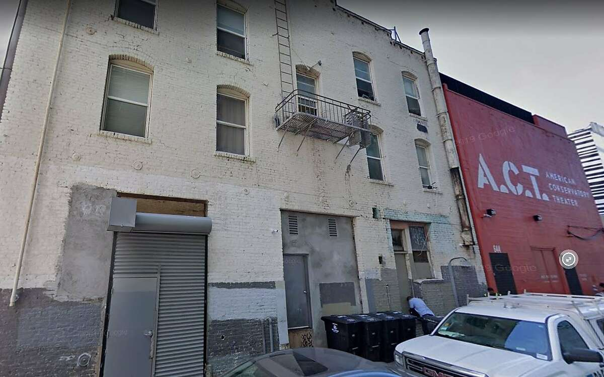 The 600 block of Odd Fellows Way in San Francisco in 2019 from a Google Street View capture.