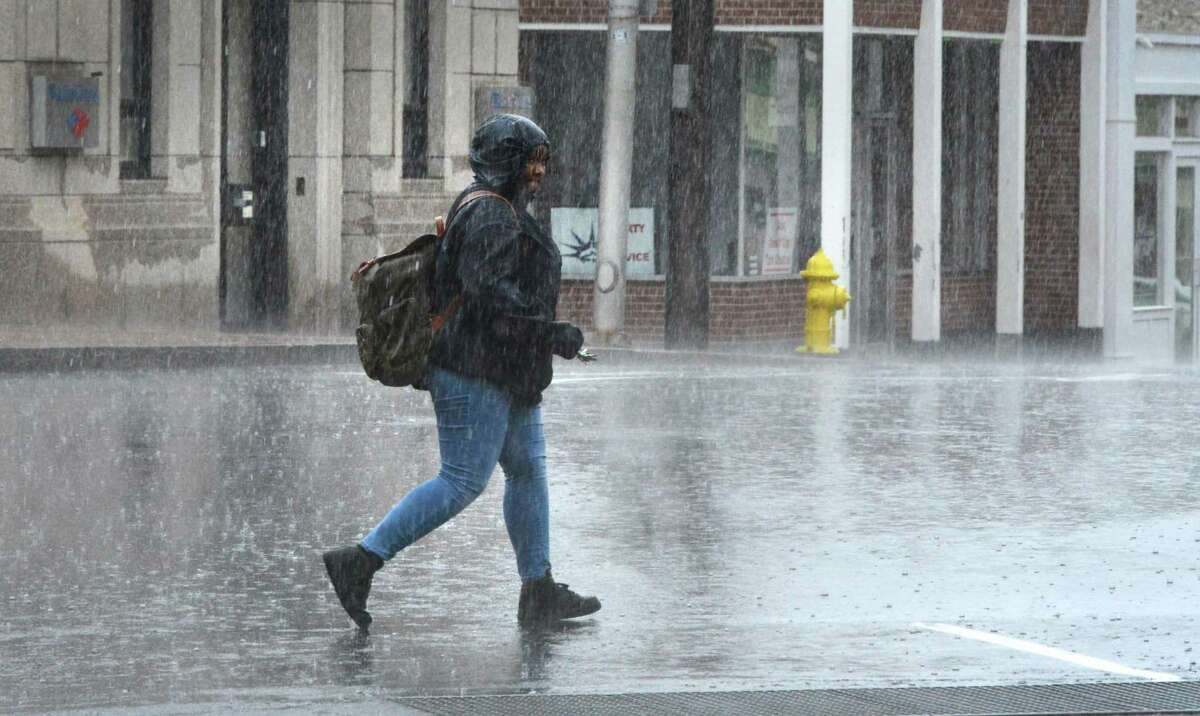 About a quarter-inch to half-inch of rain is expected to fall Monday, June 14, 2021, as skies stay cloudy and the temperature hovers near 70 degrees. There will be a slight wind. The likelihood of rain continues throughout the day and into the evening, with cloudy skies and a low around 60 degrees.