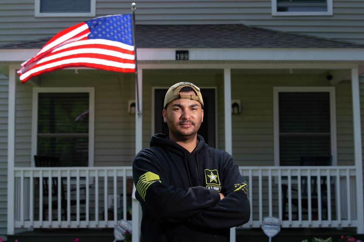 Army veteran Carlos Correa of Willimantic spent months in psychiatric hospitals after his deployment to Afghanistan, and now with the help of local veterans' organizations he's learned to cope with his traumatic brain injury and post-traumatic stress disorder.