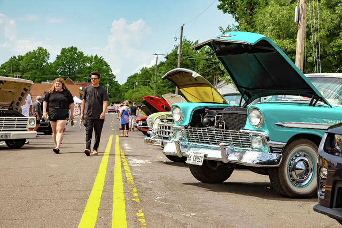 Dozens of classic cars participated in the afternoon car show and evening cruise through downtown Edwardsville.
