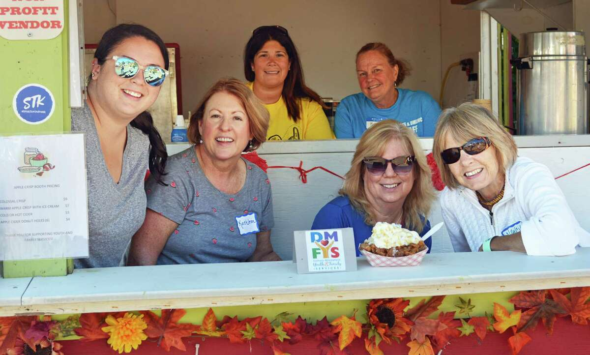 In 2019, the Durham Fair launched a new dessert booth manned by the Durham Middlefield Youth & Family Services volunteers. They sold Colossal Crisps, fresh-made cinnamon-sugar apple cider doughnuts topped with Lyman Orchards' hot apple crisp, vanilla ice cream, whipped cream and caramel sauce.